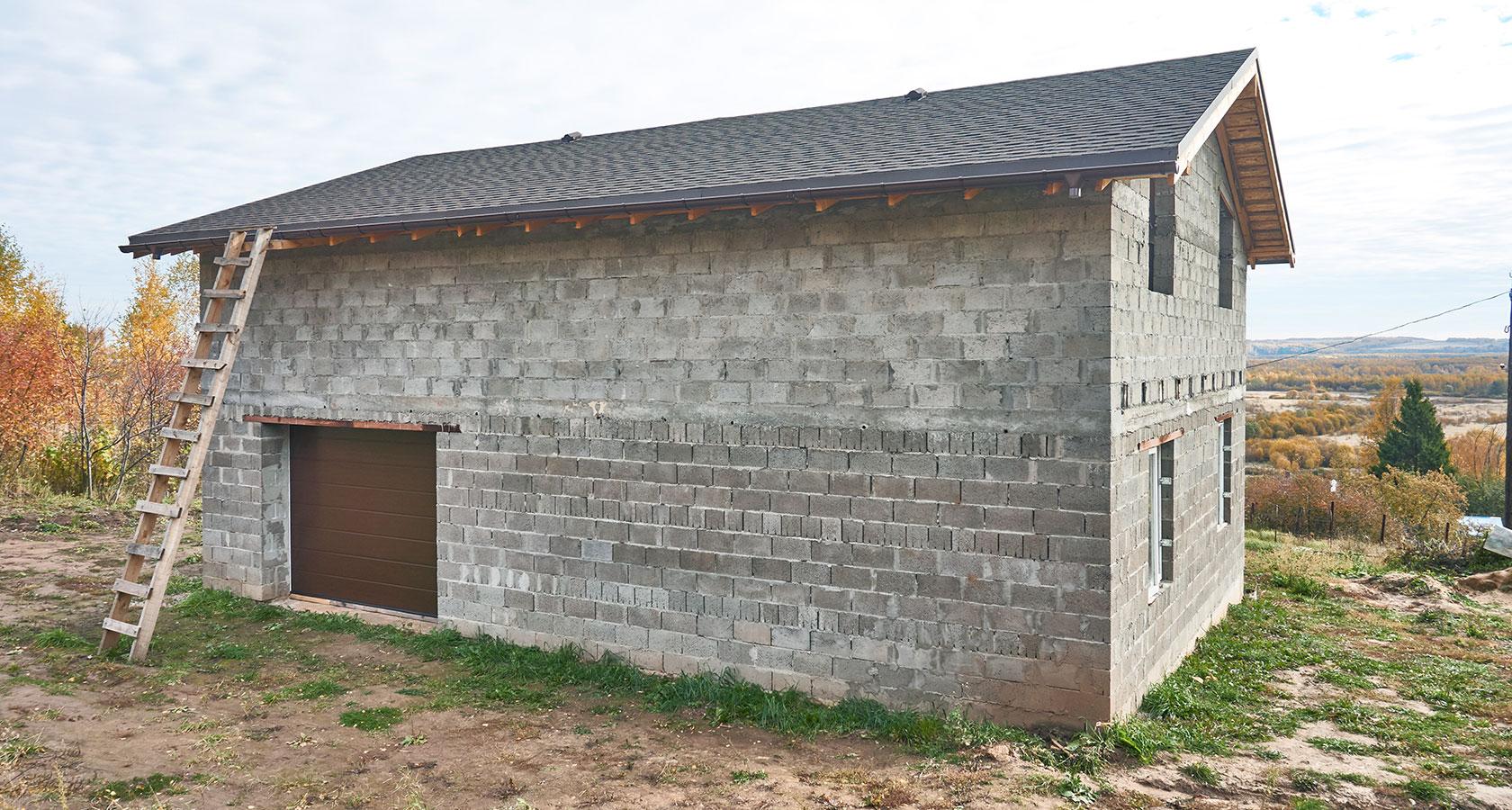 Бани из керамзитобетонных блоков: плюсы и минусы, строительство бани своими руками, фото