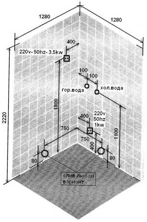 Слив для душевой кабины: обзор + инструкция по монтажу