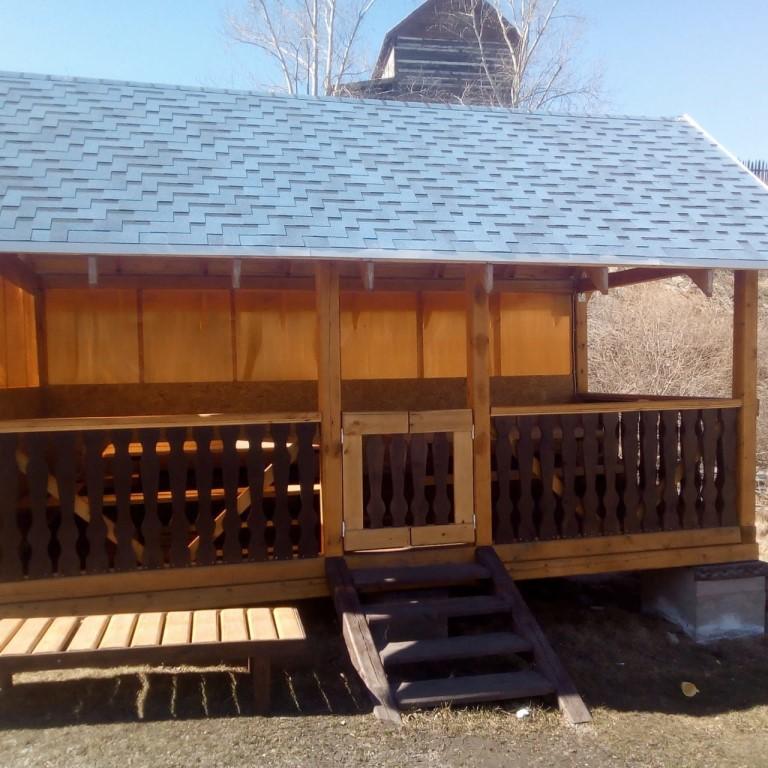 Беседка с баней под одной крышей: подборка интересных проектов для дачного участка