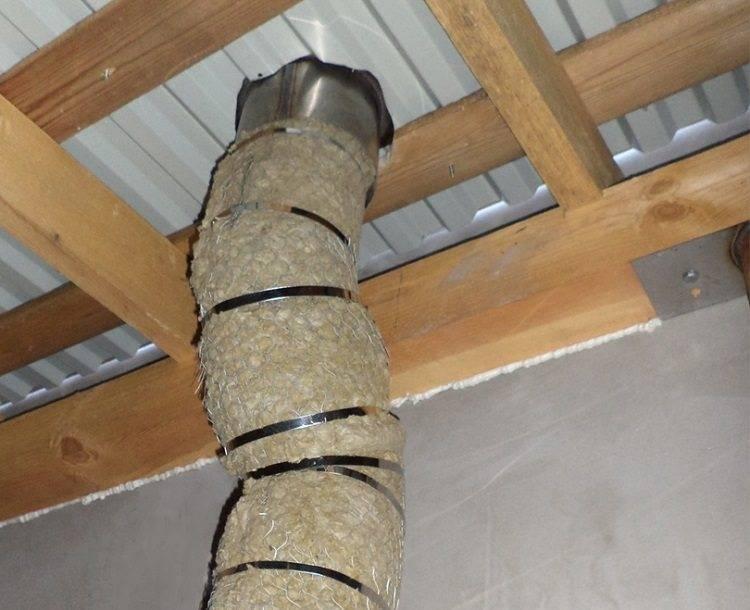 Изоляция дымохода в бане — чем обмотать и утеплить металлическую трубу
