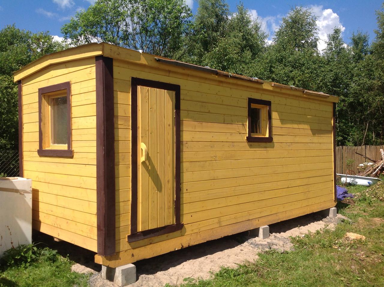 Дачные двухкомнатные бытовки с туалетом и душем для огородников