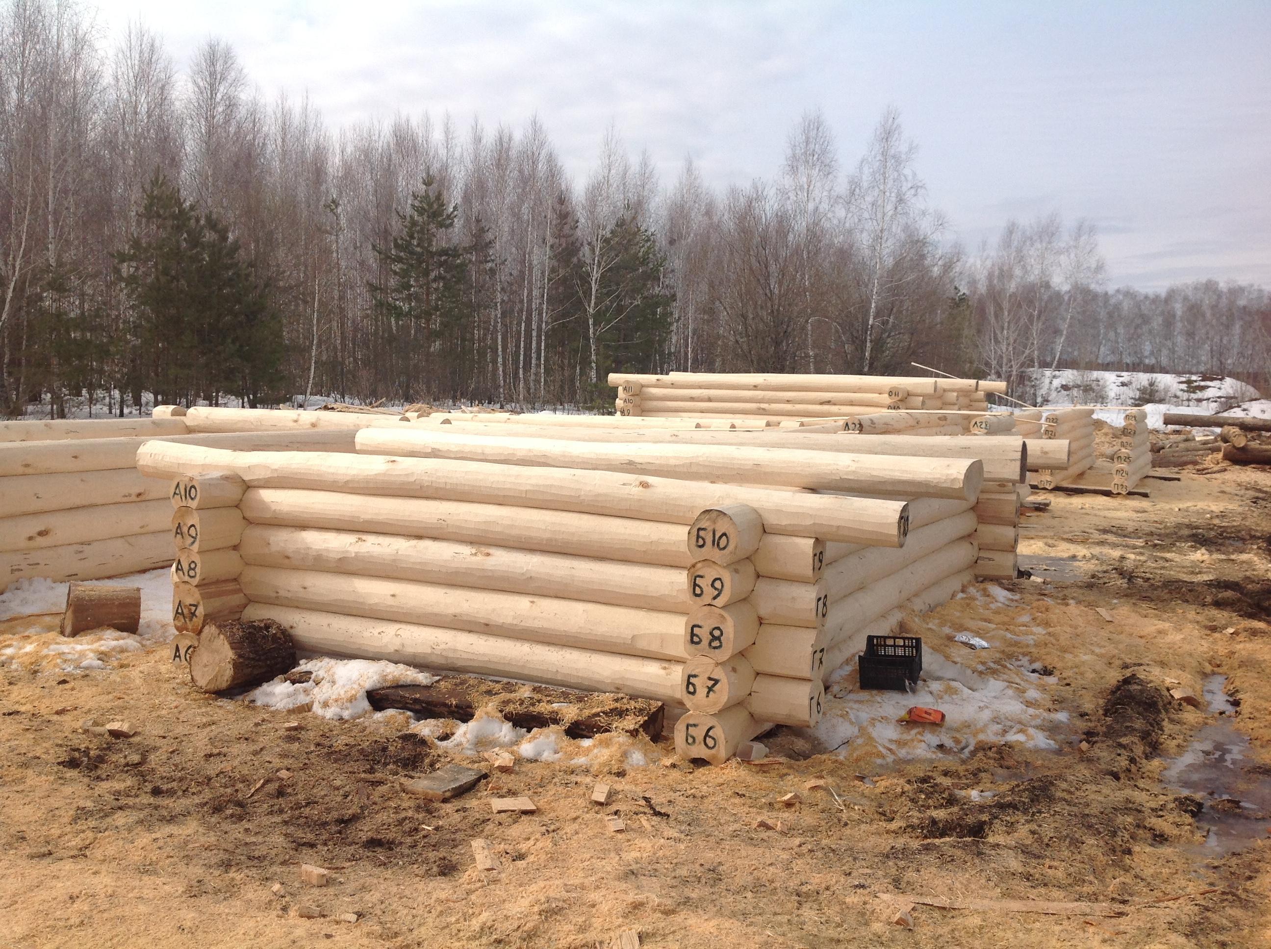 Время заготовки леса для сруба.