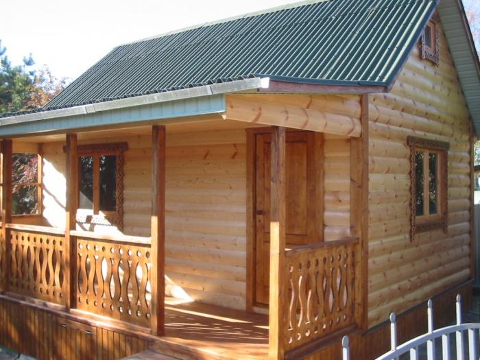 Одноэтажные бани с верандой своими руками - проект и строительство!