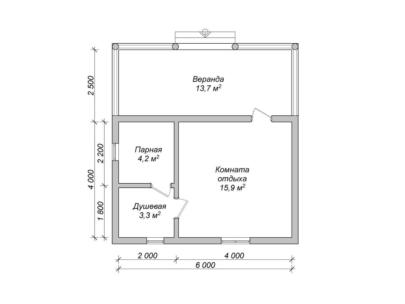 Баня 6 на 4 планировка