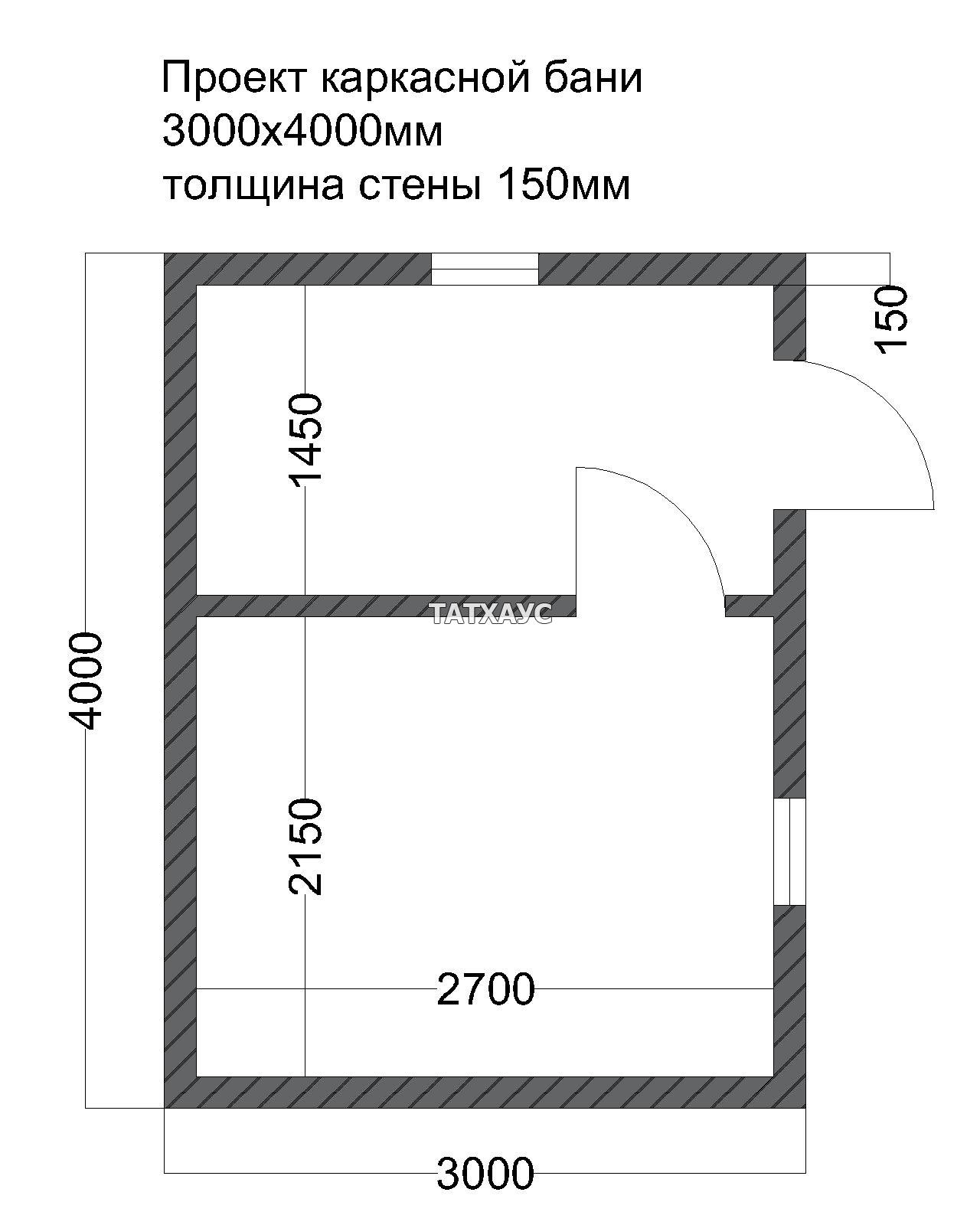Как рассчитать каркасную баню 4*4 метра + фото и чертежи