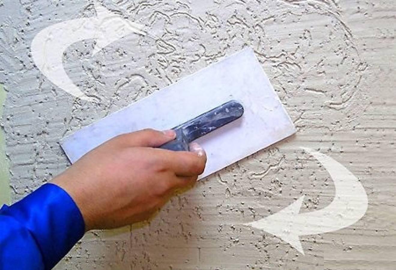 Штукатурка короед: плюсы и минусы фактурного декора фото видео