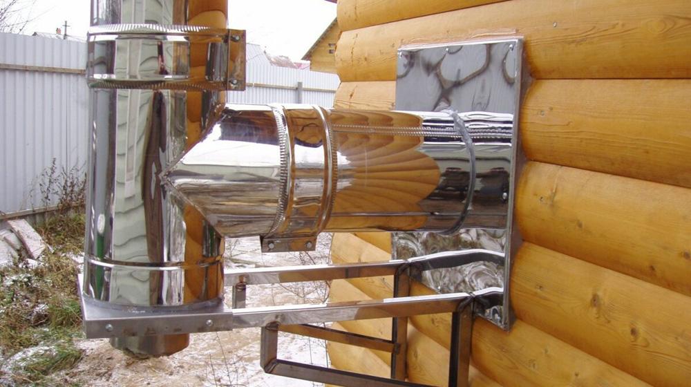 Дымоход в бане из железной трубы