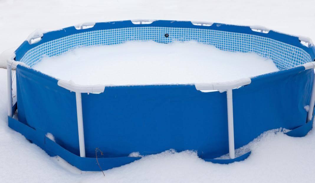 Как хранить каркасный бассейн зимой