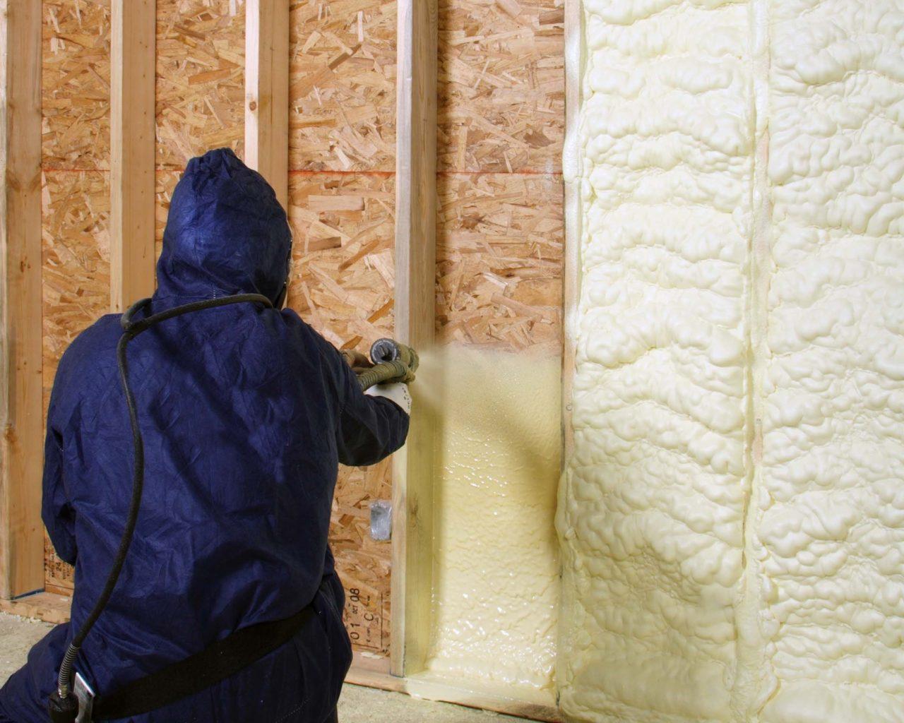 Пенный утеплитель для стен в баллонах, как утеплить стены пеной