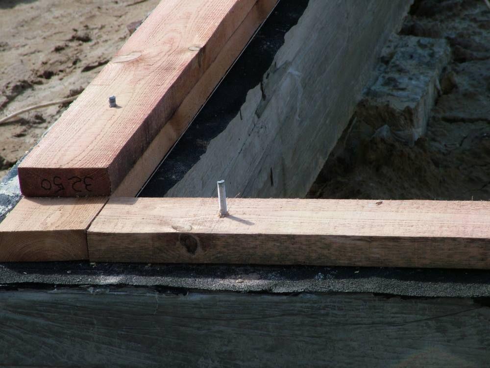 Как лучше заделать щель между срубом и фундаментом?