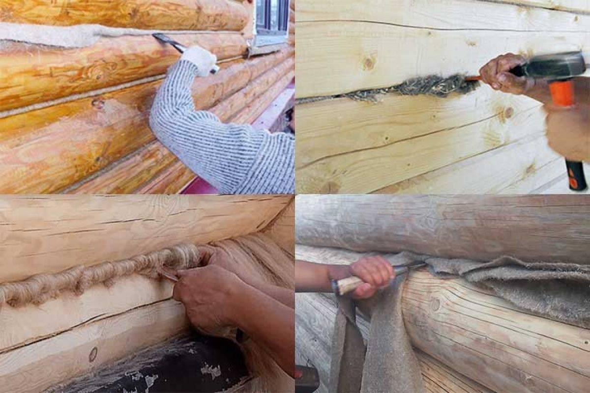 Как сделать конопатку сруба — материалы и способы заделки швов