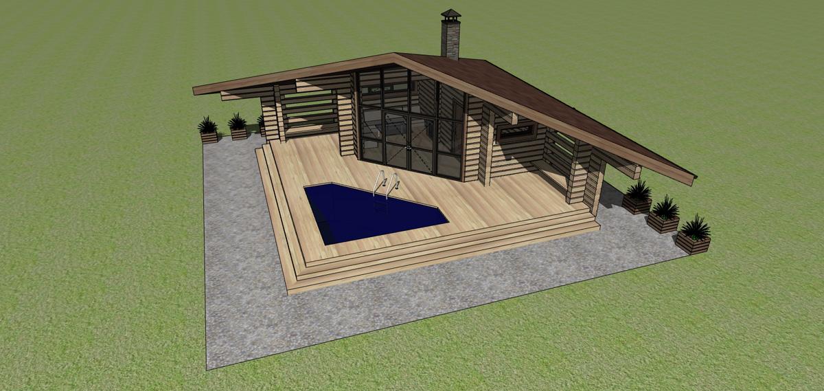 Баня с беседкой и барбекю под одной крышей проекты