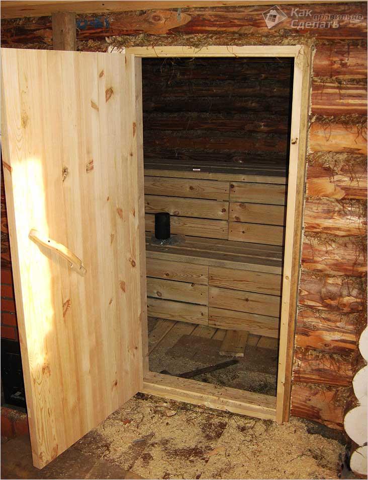 Как установить дверь в бане своими руками: пошаговая инструкция