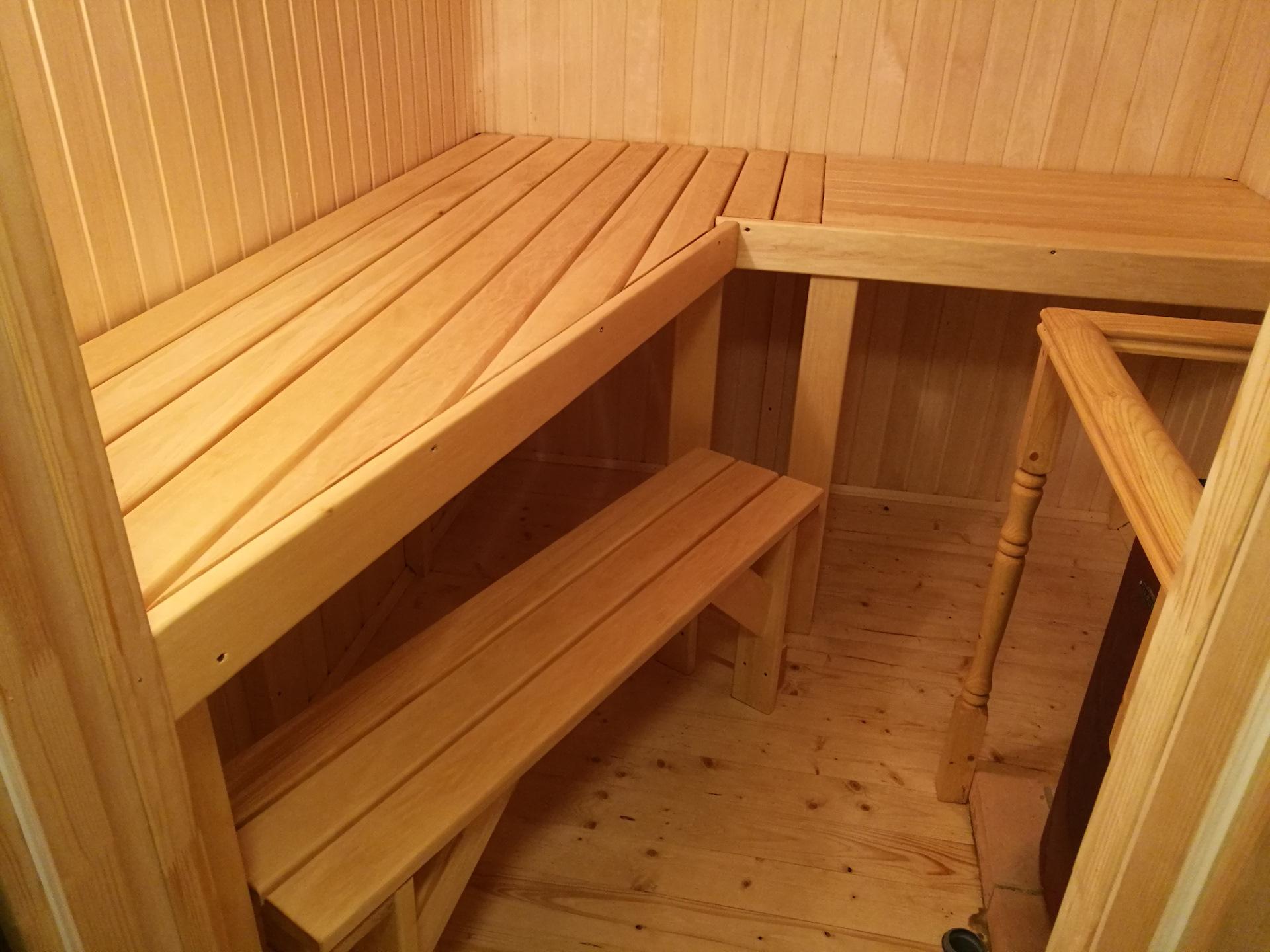 Делаем правильный полок для бани из дерева