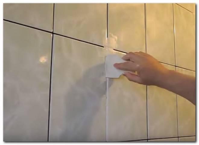 Плитка в ванной. как обновить швы в ванной комнате