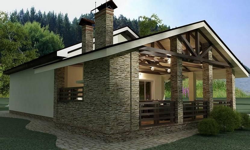 Баня с беседкой и барбекю под одной крышей: идеи и проекты