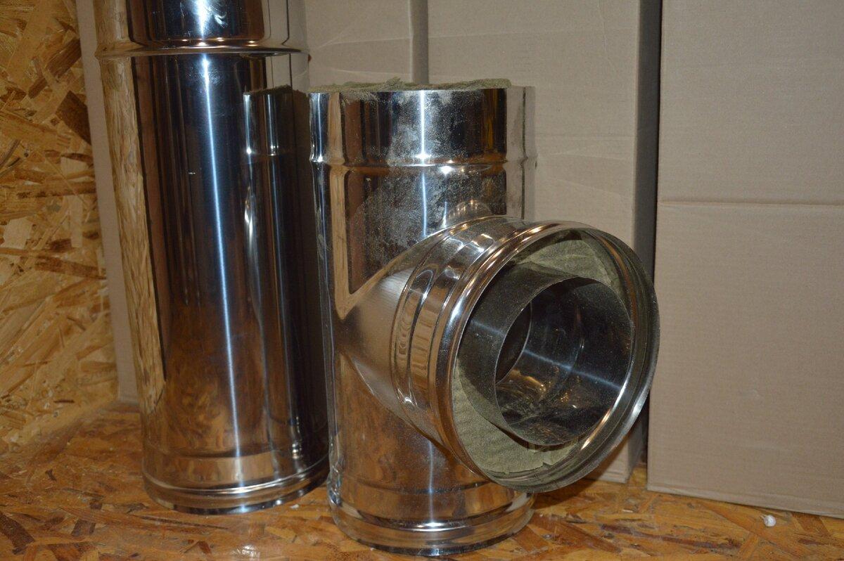 Установка сэндвич трубы для бани в качестве дымохода