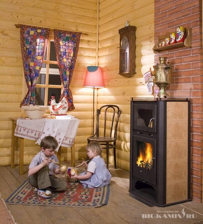 Чугунная печь-камин (80 фото): модели с теплообменником и плитой бавария, бранденбург и другие