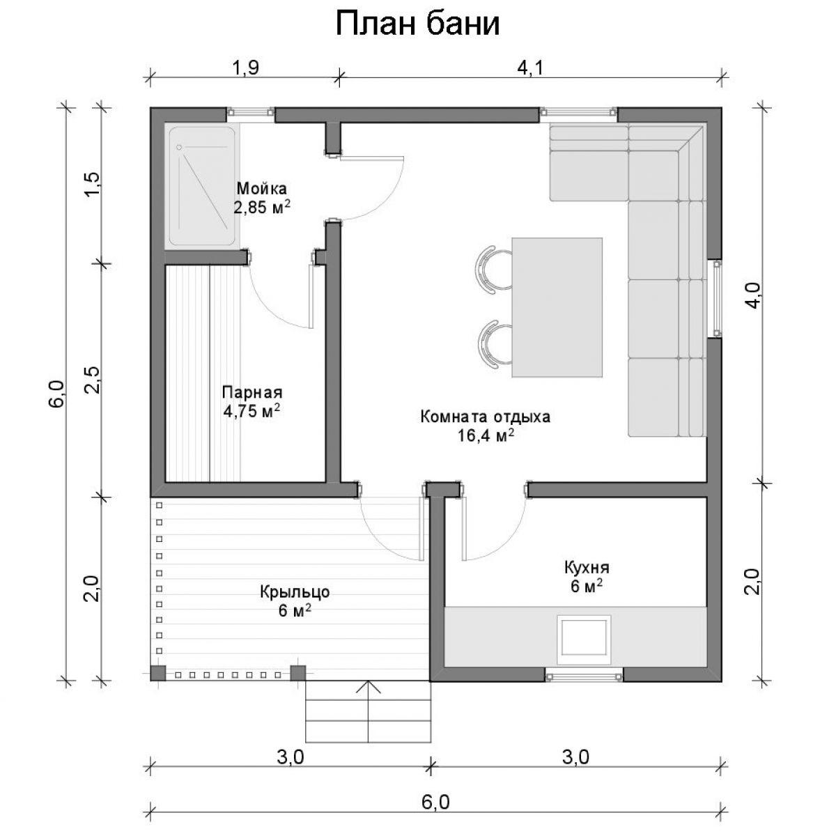 Проект бани из пеноблоков: выбор места и материалов. расчет стоимости