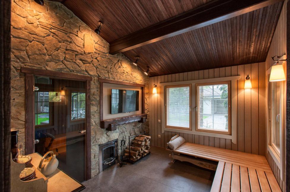 Интерьер бани: особенности внутренней отделки и дизайнерские идеи