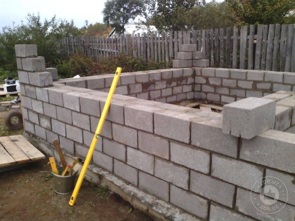 Баня из шлакоблока своими руками - строительство бани из шлакоблоков + фото