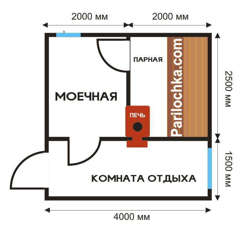 Планировка бани 3х5 м (45 фото): как обустроить внутри мойку и парилку отдельно, план постройки 3х3 и 2х3 м из шлакоблока