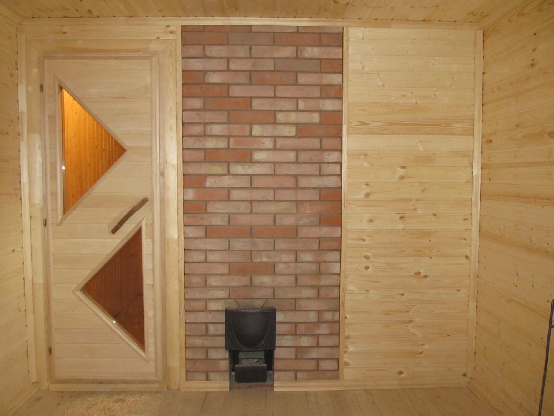 Чем обшить стену возле печки в бане - строим баню или сауну