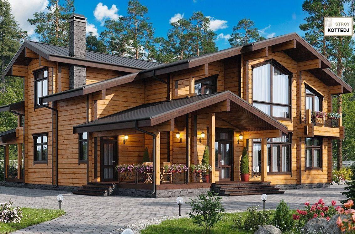 Дома из клееного бруса: особенности технологии, коттеджи под ключ – проекты и цены