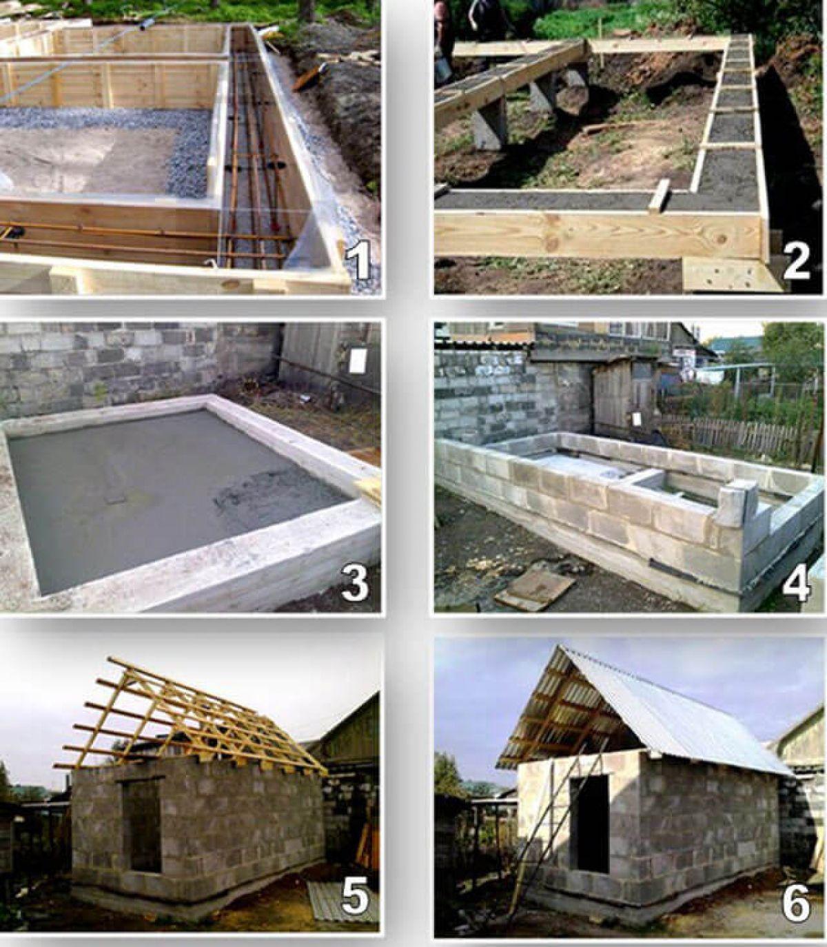 Как построить баню из пеноблоков своими руками: инструкция с фото
