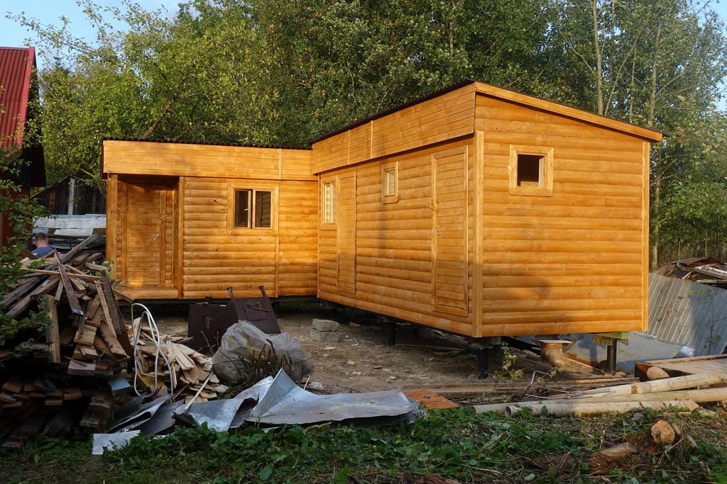 Бытовки дачные двухкомнатные с туалетом и душем: планировка, обустройство