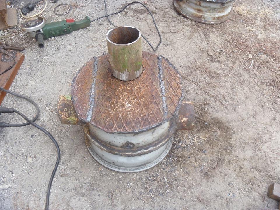 Как сделать печку из колесных дисков