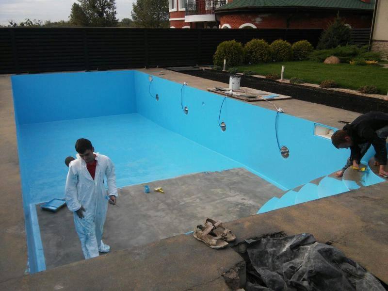 Гидроизоляция бассейна своими руками: обзор технологий + пошаговый пример работ