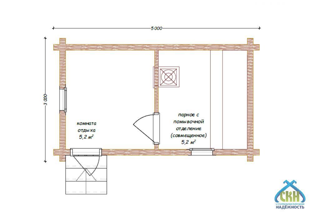 Баня из бруса 3 на 3 м: особенности проекта и технология постройки