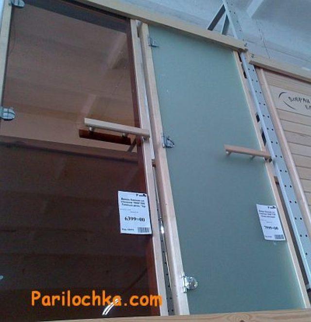 Стеклянные двери для бани — секреты качественного выбора