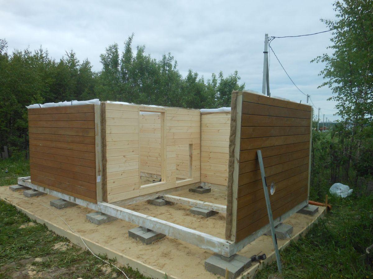 Как сделать щитовую баню – от фундамента до крыши