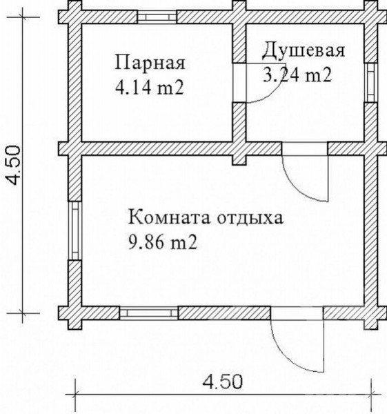 Какой должна быть баня поразмеру?