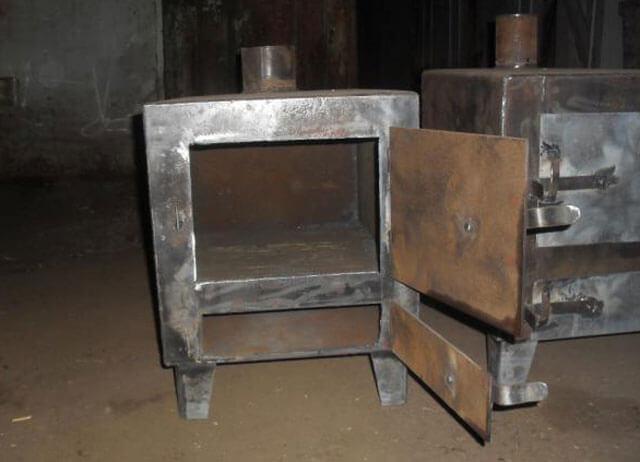 Печь в баню своими руками из металла: железная из чертежей и схем