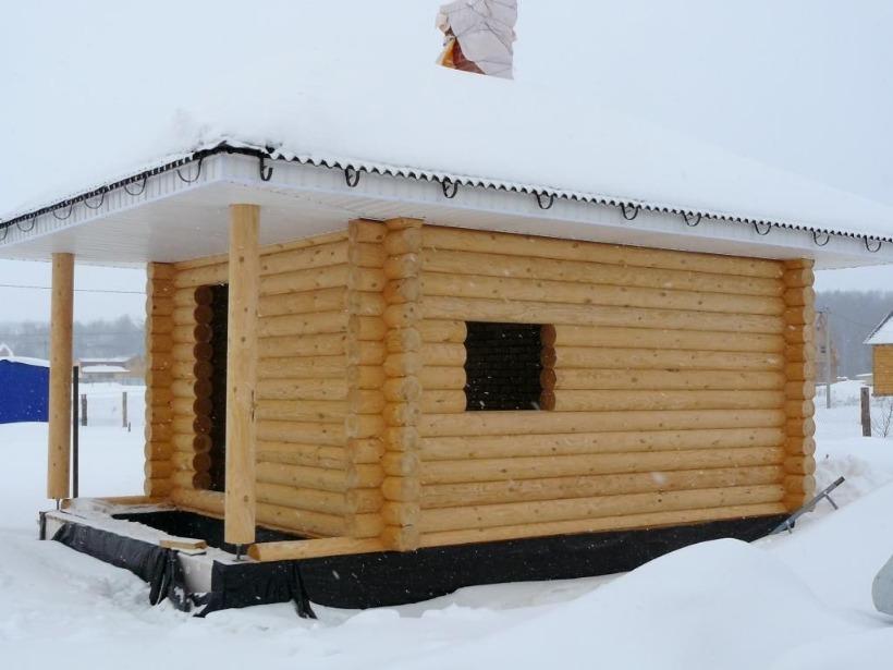 Небольшая баня из бруса своими руками - подробная инструкция по строительству!
