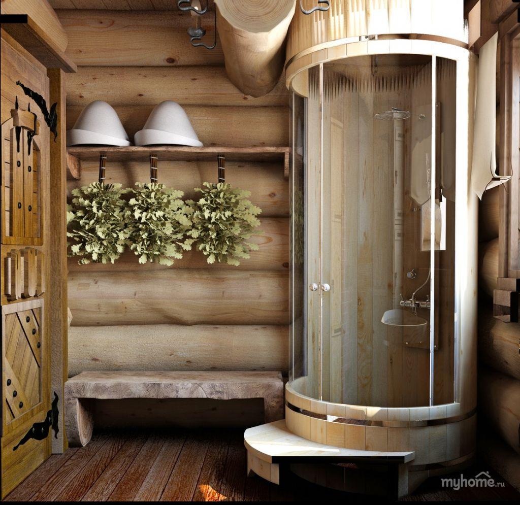 Только польза для здоровья: душевая кабина в бане