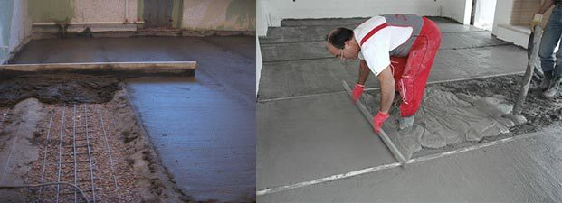 Как залить бетонный пол в частном доме?