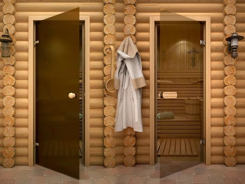 Как выбрать стеклянные двери для сауны и бани по размерам, толщине и качеству стекла + фото