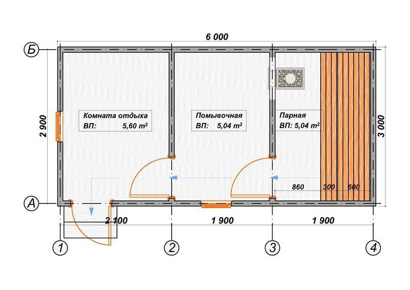 Баня размером 6 на 3 — особенности планировки