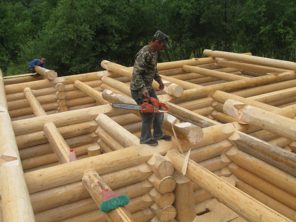 Сруб бани из бревна своими руками - как построить самостоятельно