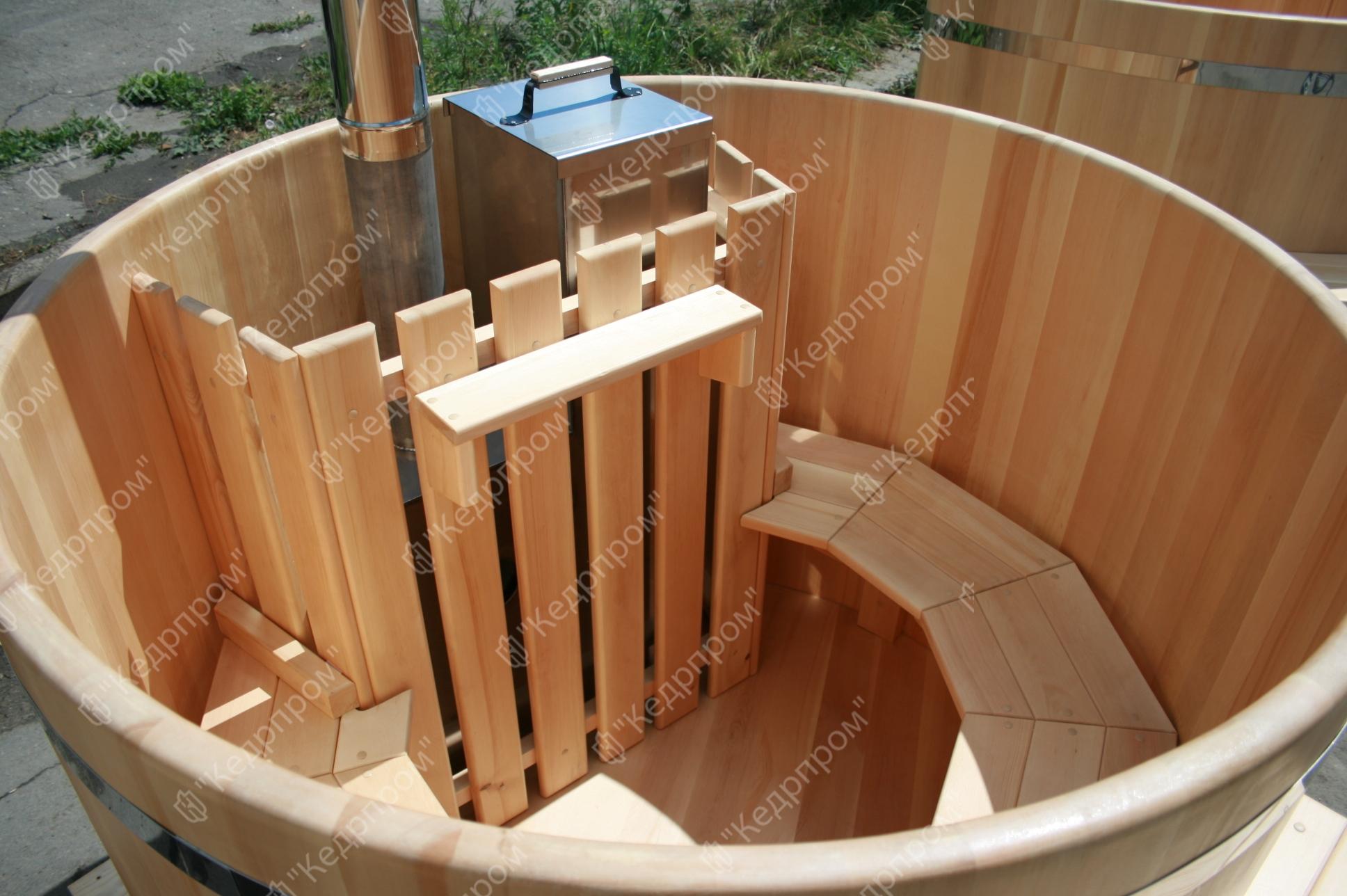 Сделай сам уличную купель с дровяной печкой: детали, конструктив, смета