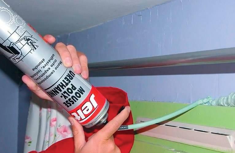 Как пользоваться монтажной пеной для запенивания окон и дверей