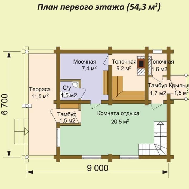 Комната отдыха в бане 3х4: дизайн интерьера в современном стиле с кухней, оформление и отделка - 41 фото