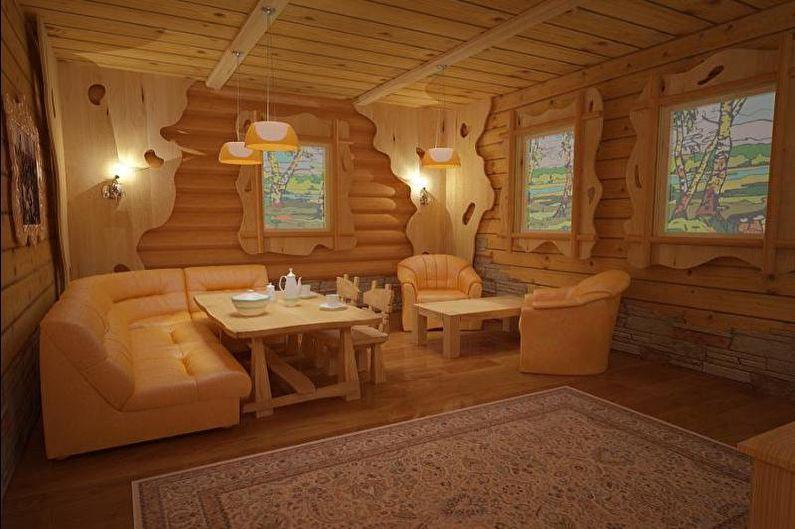 Комната отдыха в бане: виды и идеи дизайна