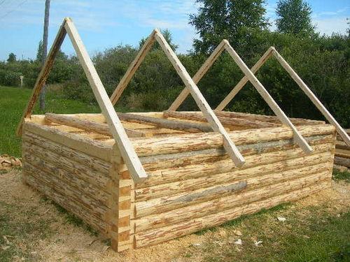 Двухскатная крыша для бани своими руками