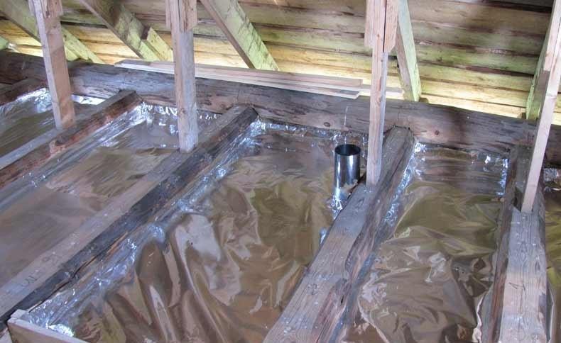 Как утеплить потолок в парилке бани