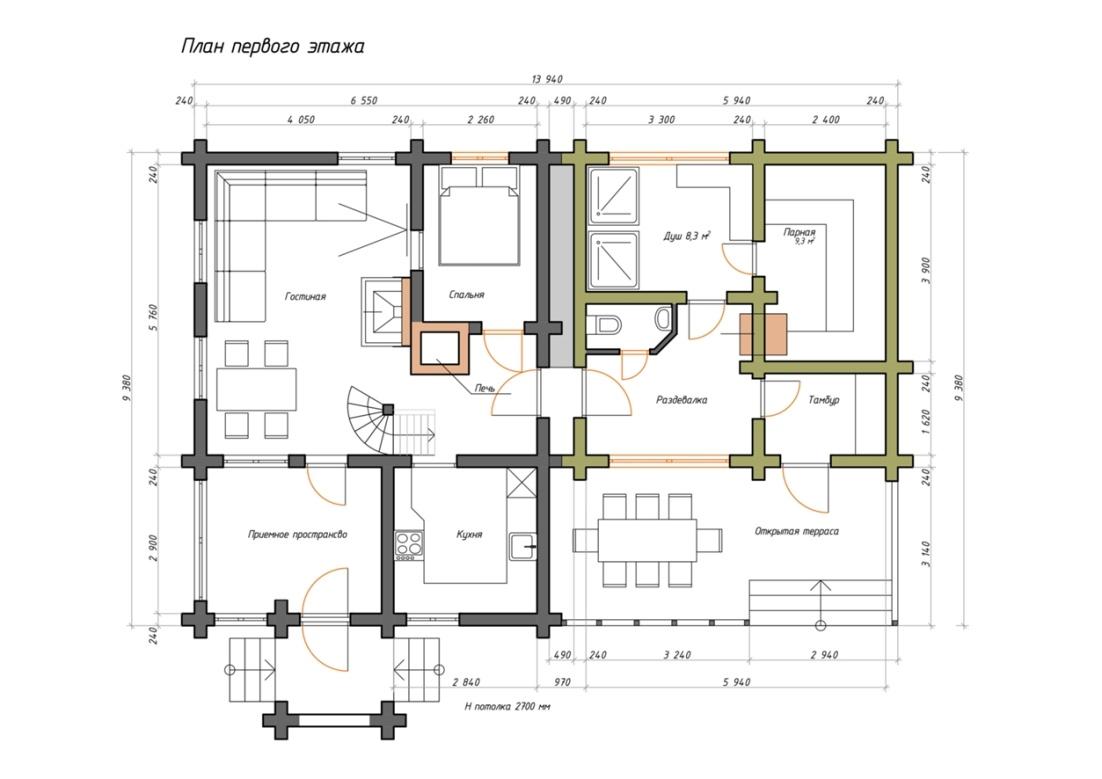 Проекты домов с банями под одной крышей